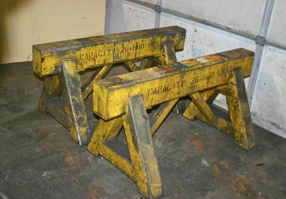 6 26 000 Lbs Steel Saw Horses Stock 52464