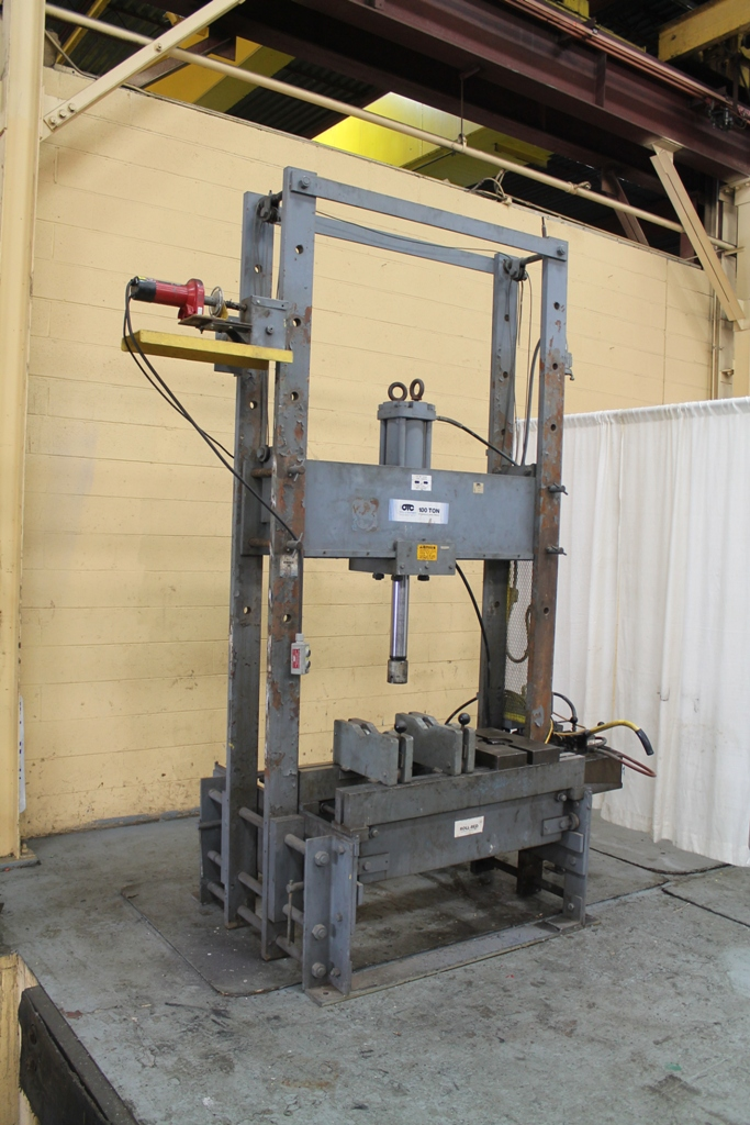 100 Ton Otc H Fram Hydraulic Press Stock 64309