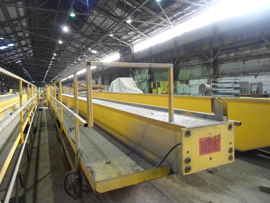 20 Ton X 55 4 Quot Demag 4 Wheel Demag Overhead Bridge Crane