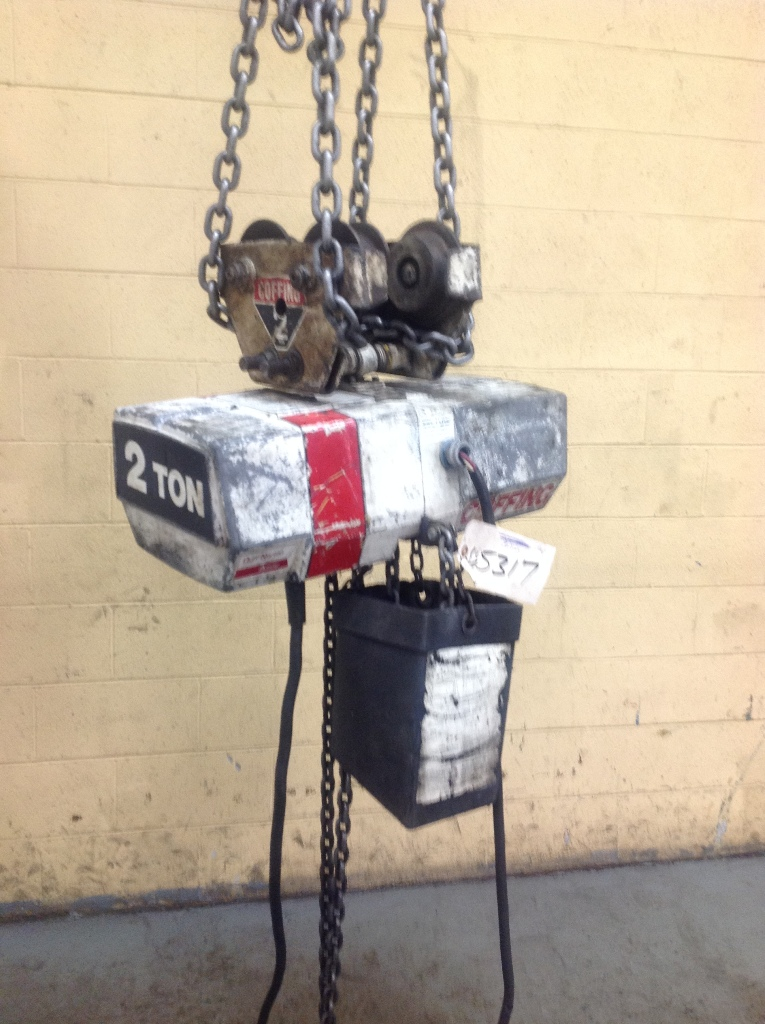2 Ton Coffin Electric Chain Hoist  Stock 65317