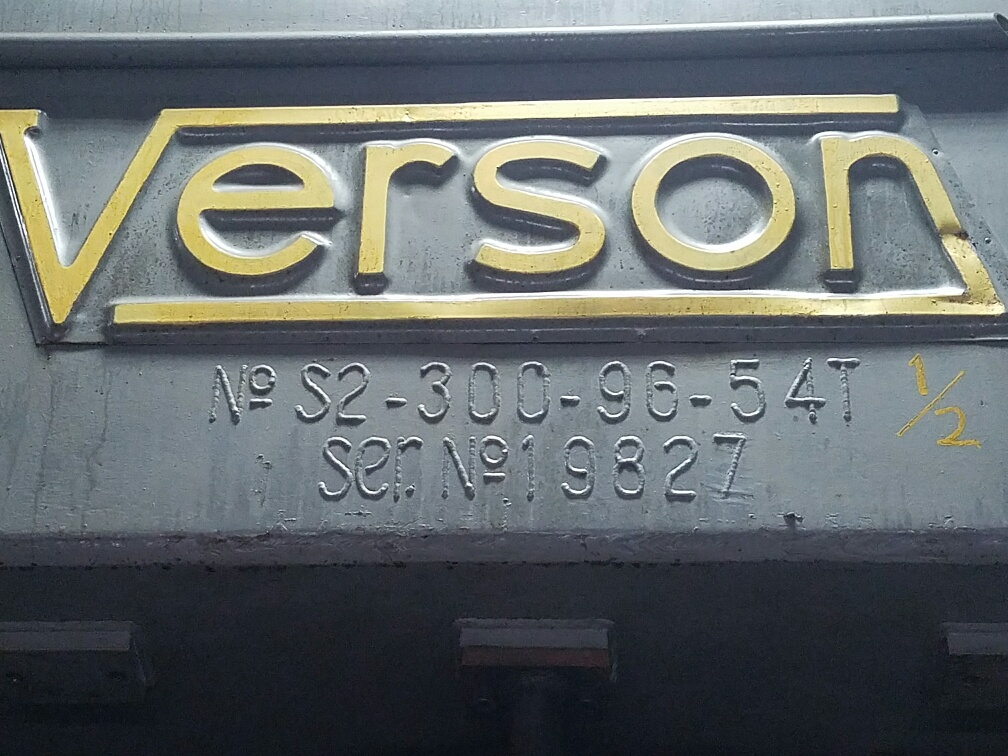 300 Ton Verson Model 300 B2 96 Ssdc Press Stock 66617