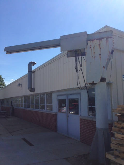 1 Ton Free Standing Jib Crane Amp Hoist Stock 68562